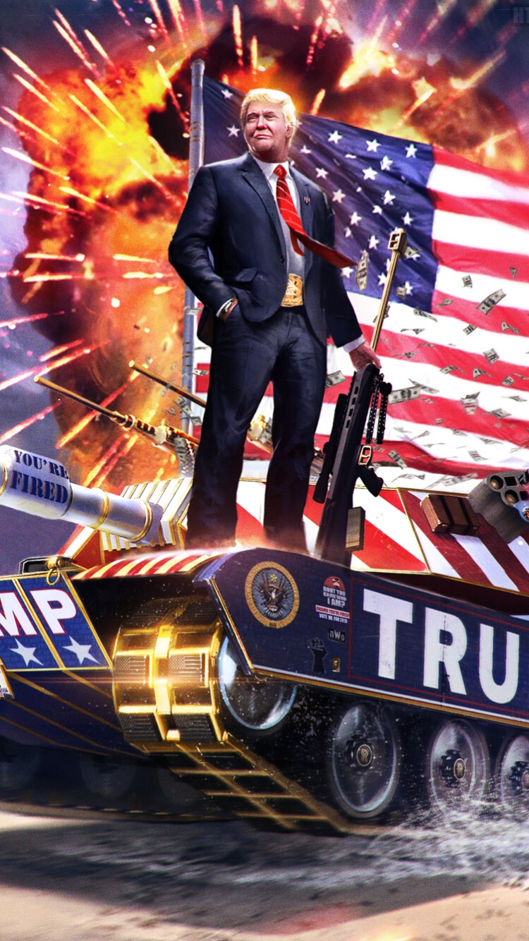 American Pride And Military Of Donald Trump Wallpaper Wallpapers