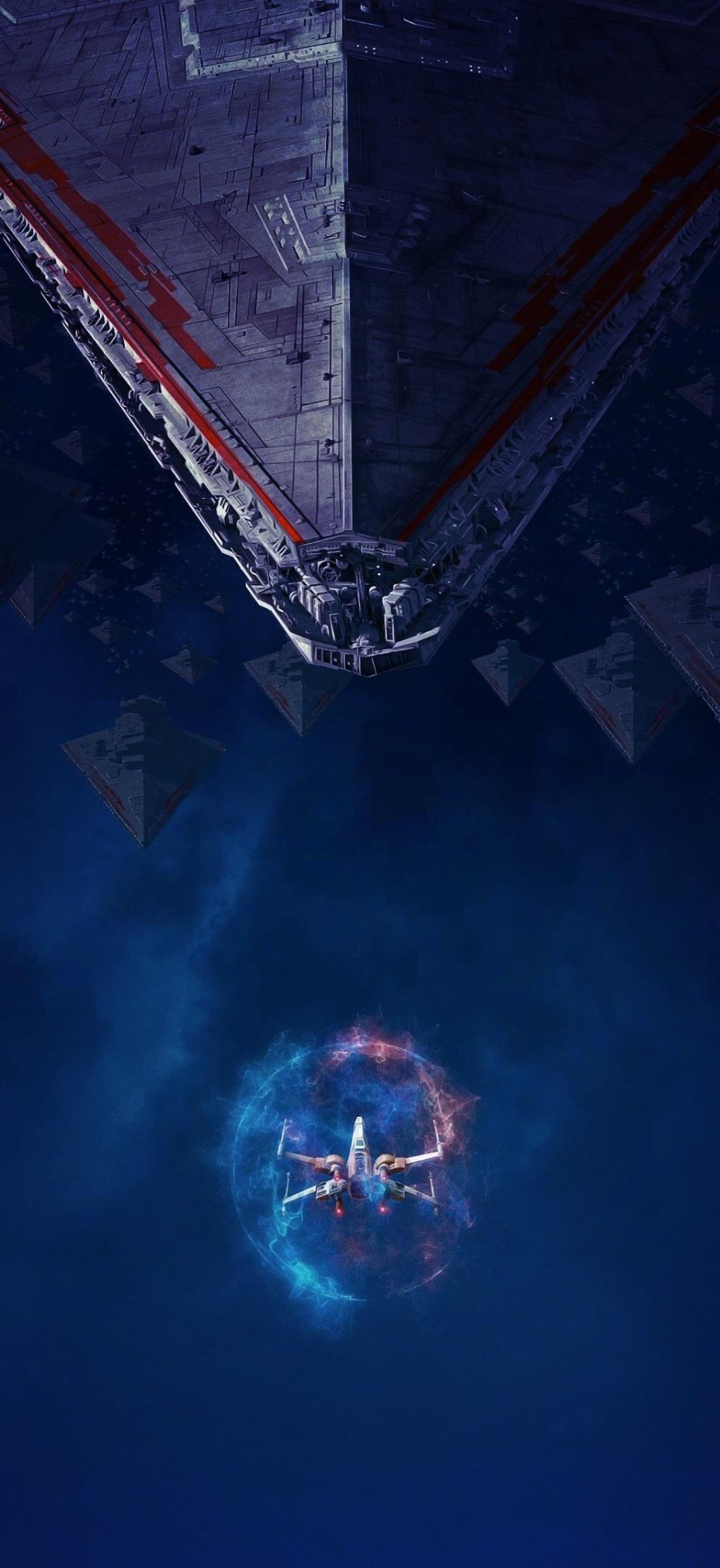 Star Wars X Wing And Star Destroyer Phone Wallpaper