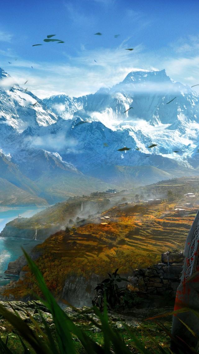 Wallpaper Far Cry 4 Game Open World Adventure Games Shooter Kyrat Himalayas Tibet Lake