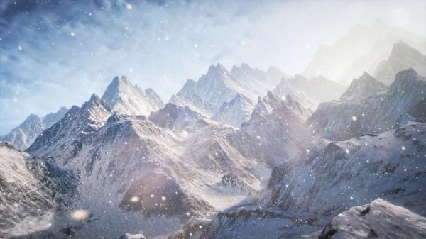 Wallpaper 3D 5k 4k wallpaper 8k Mountains snow