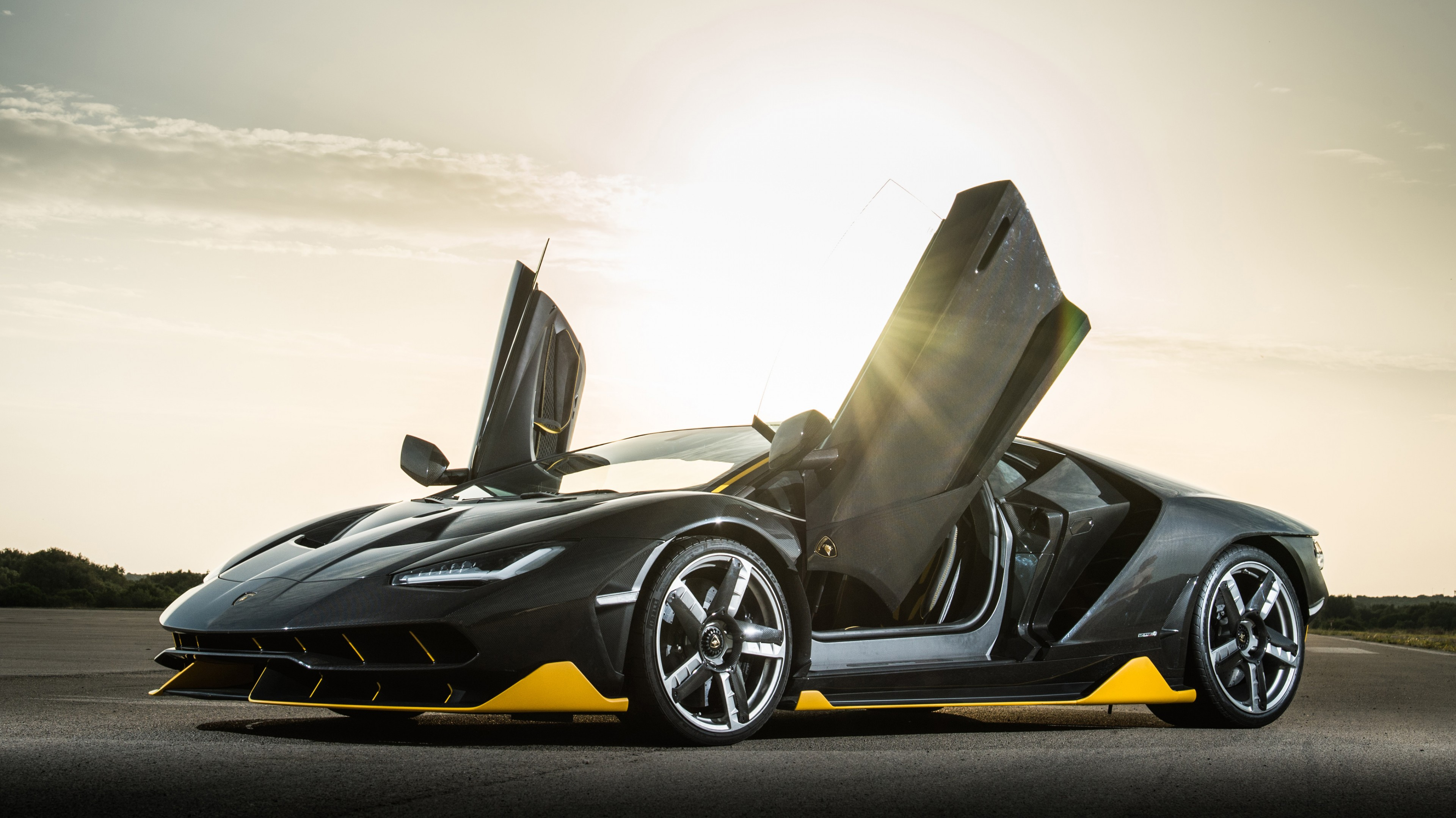 Wallpaper Lamborghini Centenario Coupe Supercar Black