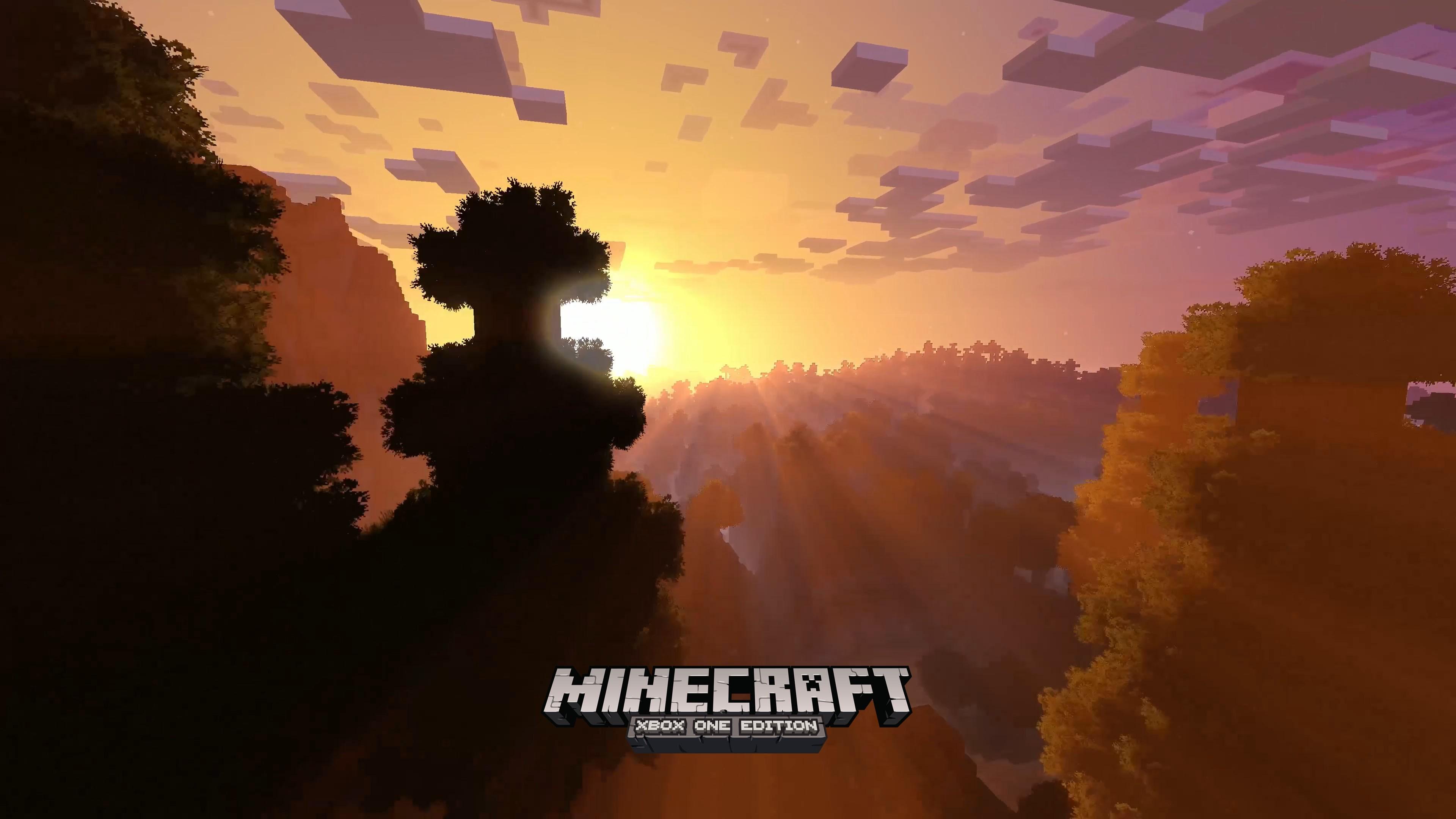 Wallpaper Minecraft 4k Edition E3 Xbox One X