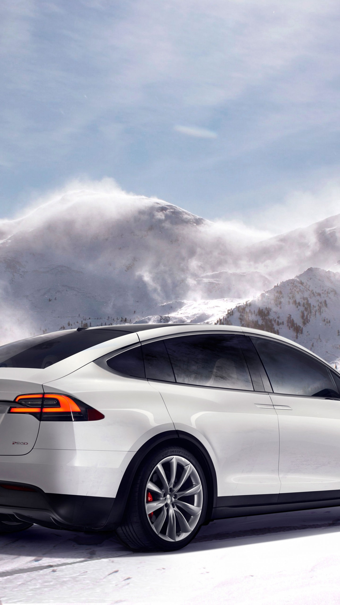 Wallpaper Tesla Model X White Electric Cars Suv 2016