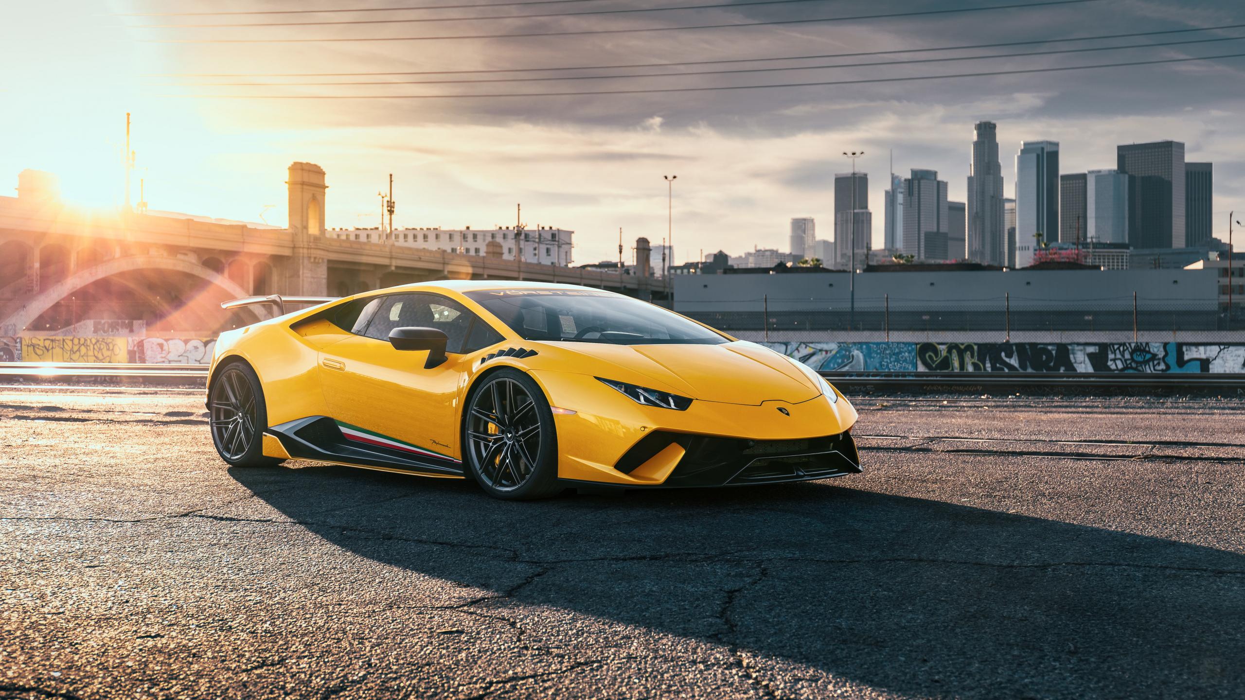 Wallpaper is no longer dated or stuffy. Download 2560x1440 Wallpaper Lamborghini Huracan Yellow Sports Car Dual Wide Widescreen 16 9 Widescreen 2560x1440 Hd Image Background 21628