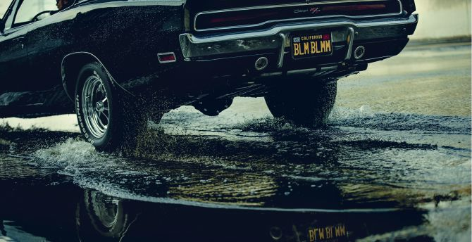 Unsplash has all the car wallpaper you're looking for. Desktop Wallpaper Dodge Charger Muscle Car Rear Water Splashes Hd Image Picture Background 54cee3