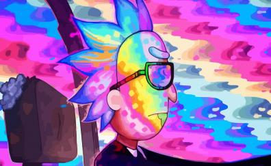 Desktop wallpaper rick and morty  rick  drive  colorful  hd image     Rick and morty rick drive colorful