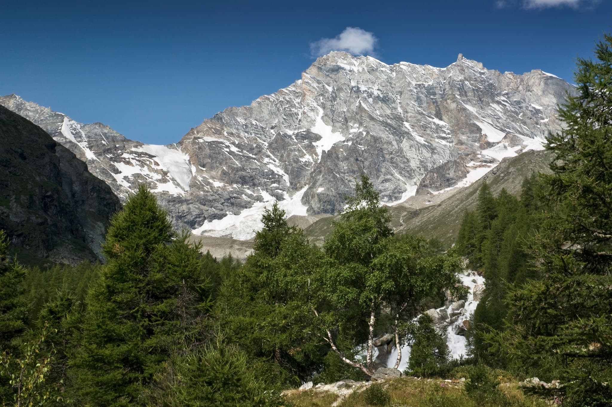 Switzerland Mountain Weisshorn Wallpapers Hd