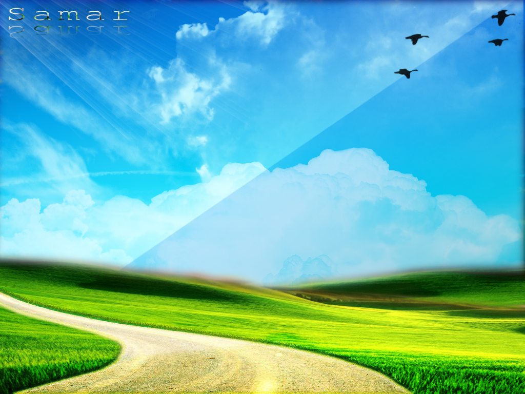 1024x768 blue green nature desktop pc and mac wallpaper