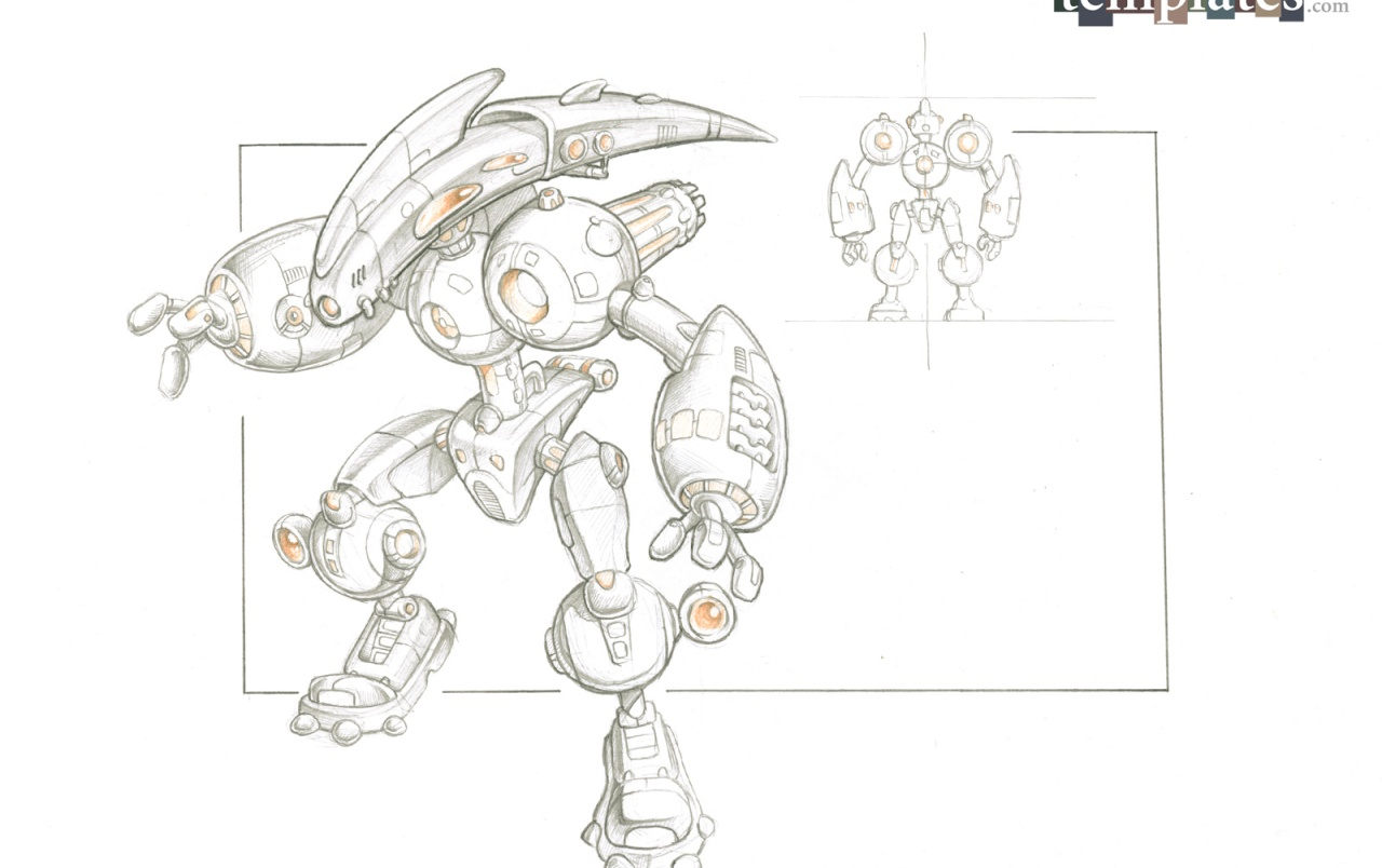 3d Robot Sketch Wallpapers