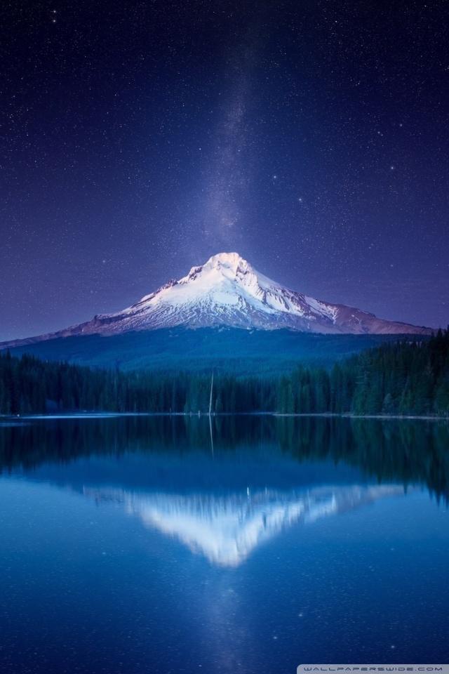 Amazing Mountain Milky Way By Yakub Nihat Mount Hood In