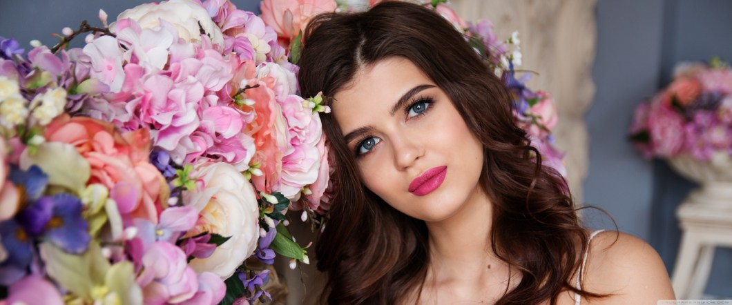 Images Of Beautiful Girl With Flowers | Kayaflower co