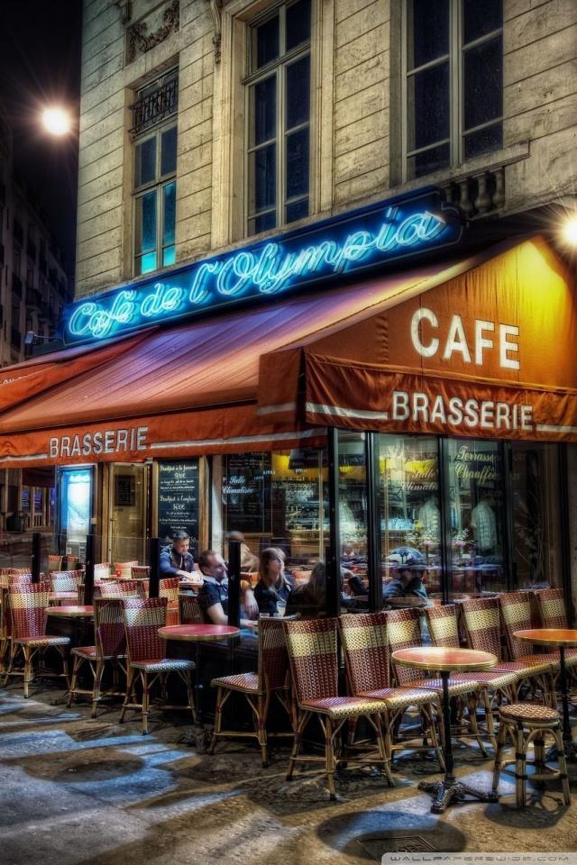 Cafe Paris France 4k Hd Desktop Wallpaper For Tablet