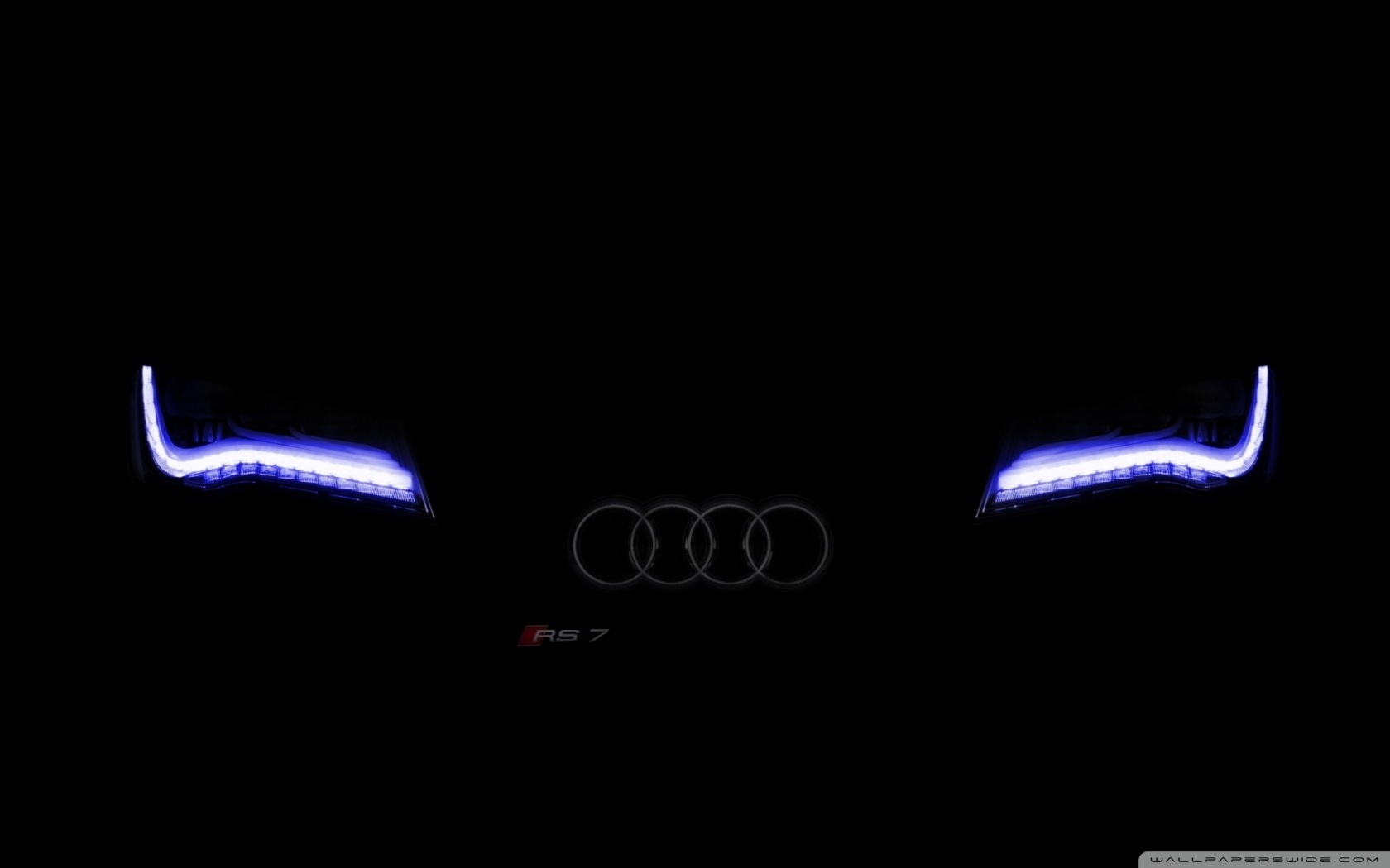 Faded Audi Xenon Blue        4K HD Desktop Wallpaper for 4K Ultra HD TV     Wide