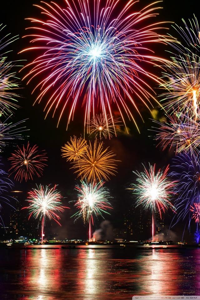 Fireworks 4K HD Desktop Wallpaper For 4K Ultra HD TV