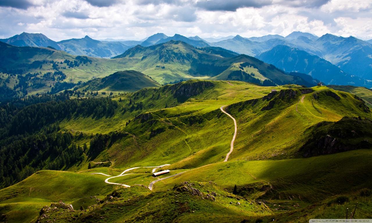 Kitzbuhel Mountain View, Austria, Europe HD desktop wallpaper ...