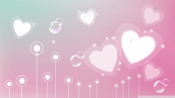 Pastel Valentine Hearts 4K HD Desktop Wallpaper for 4K