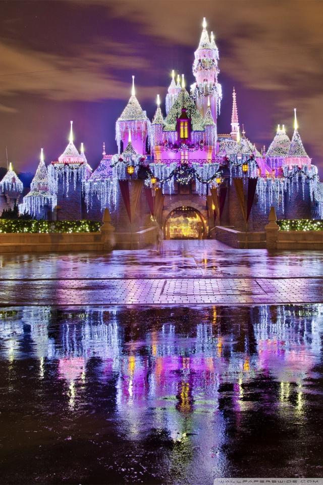 Sleeping Beauty Castle Christmas At Disneyland 4K HD