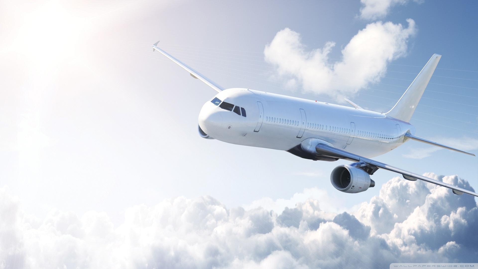 white airplane ❤ 4k hd desktop wallpaper for 4k ultra hd tv