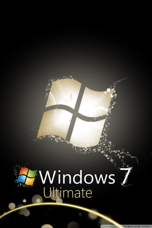 Windows 7 Ultimate Bright Black Ultra HD Desktop ...