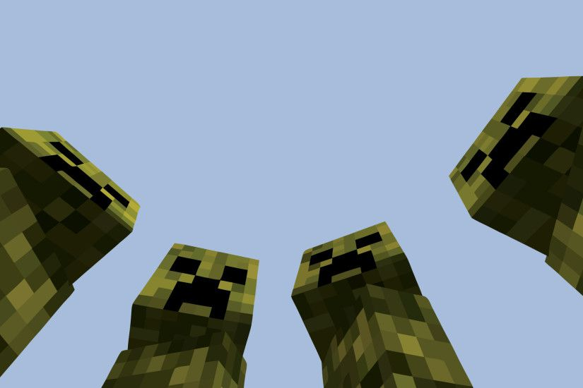 Zombie Creeper 2048x1152 Minecraft