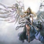 Anime Angels Wallpaper            Awesome Angel 3D Fantasy Wallpaper HD Widescreen 1080p Wallpaper with