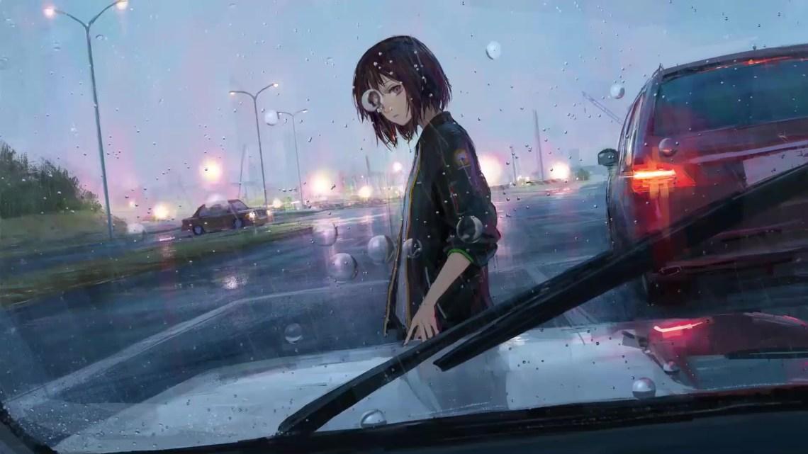 Rainy Day Anime Girl Live Wallpaper Wallpaperwaifu