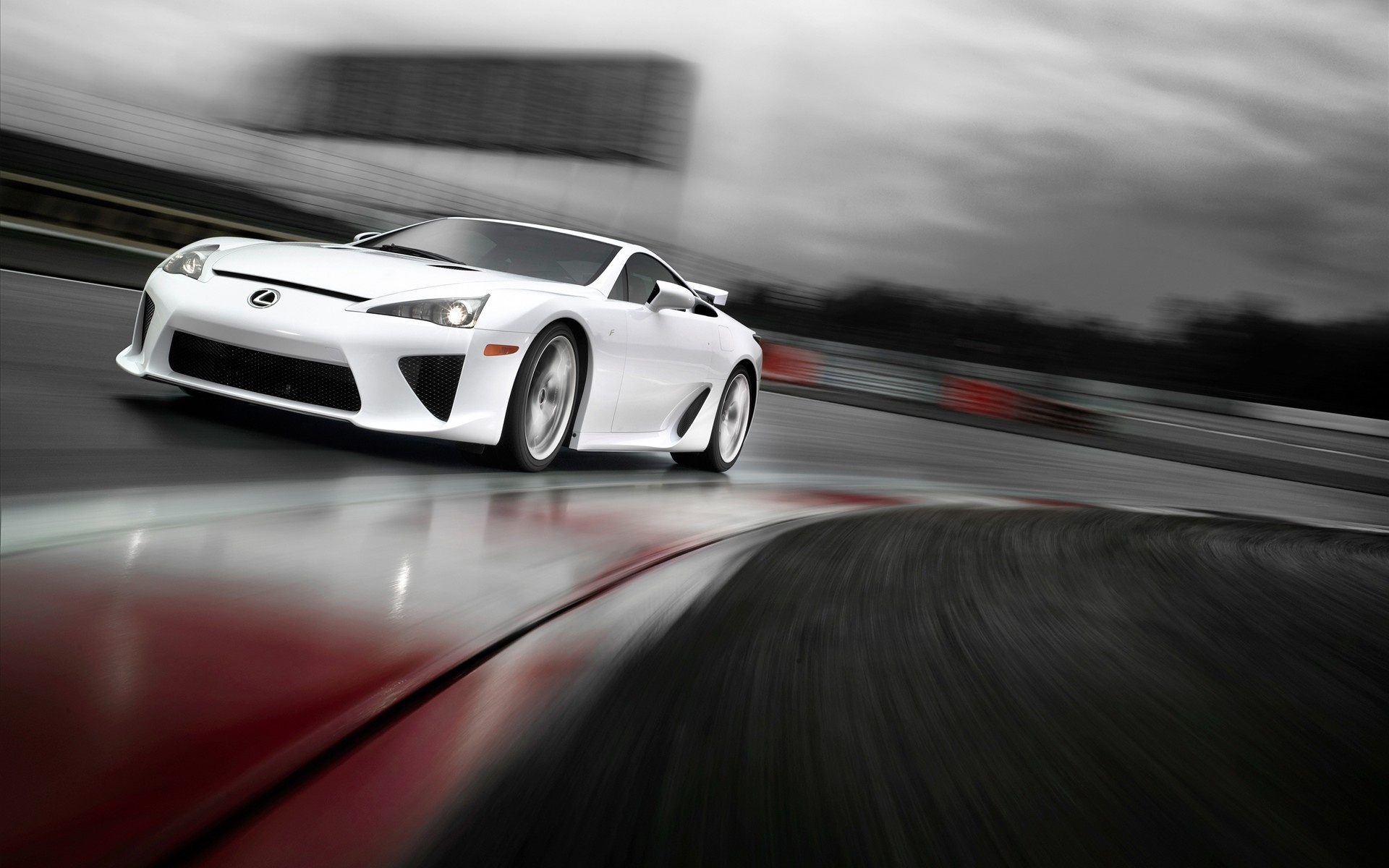 2011 Lexus LFA Rain Race Wallpaper   Wallpup.com