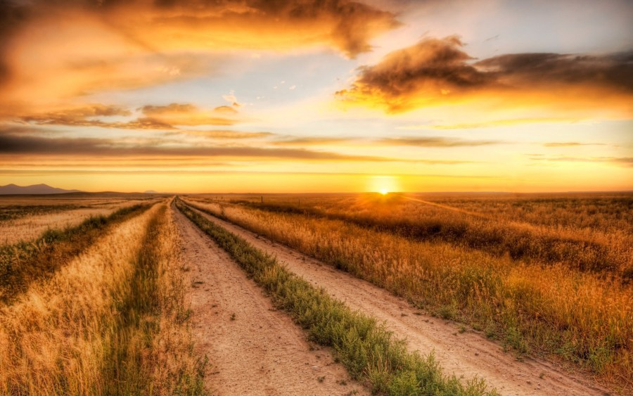 Wallpapers Photos Sunrise And Sunset Country Road