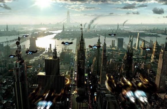 Free Download 3D Wallpapers Future City From Above