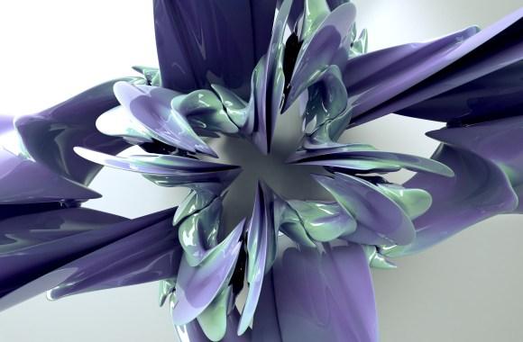 3D Abstract Flower Fantasy Wallpaper HD Desktop Gallery Free