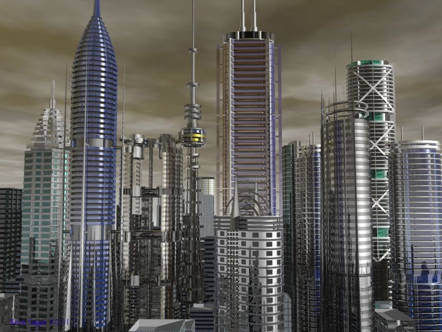 Amazing Buliding In City 3D Wallpaper Picture Image Free