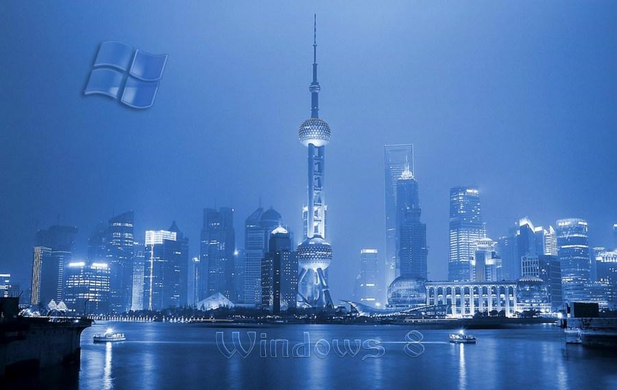 Blue Background Windows 8 Wallpaper HD 3D For Your Dekstop