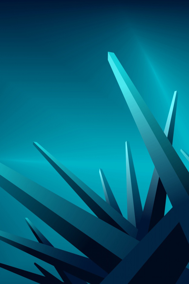 Blue 3D Crystals Simply Beautiful iPhone Wallpapers Free