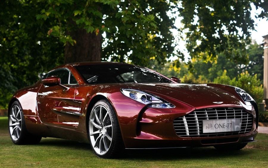 Best HD Desktop Wallpaper Red Aston Martin One 77 In Nature