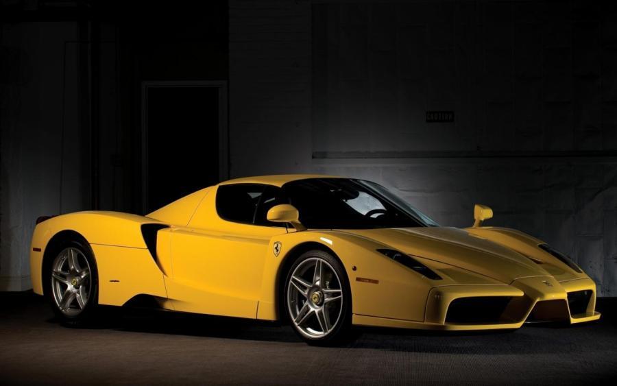 Amazing Yellow Ferrari Enzo HD Wallpaper Widescreen