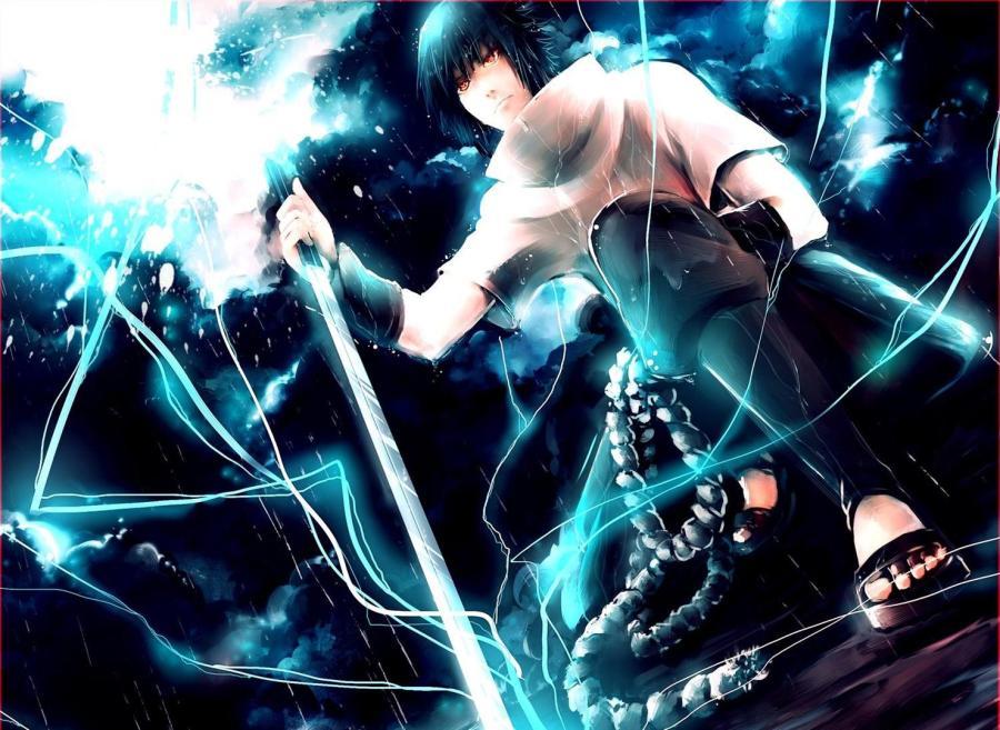 Awesome Uchiha Sasuke Chidori Skill HD Wallpaper Image