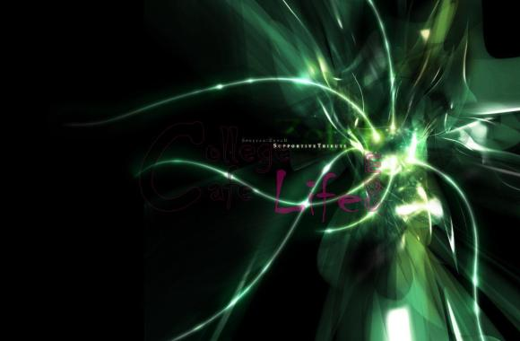 Awesome Black And Green Color Abstract Wallpaper Desktop