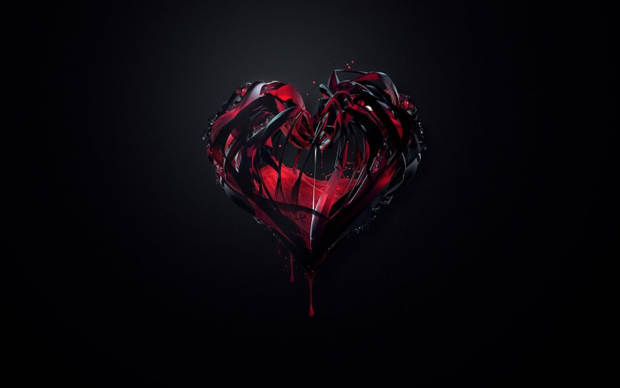 Black And Red Love Abstract Wallpaper HD Widescreen Free