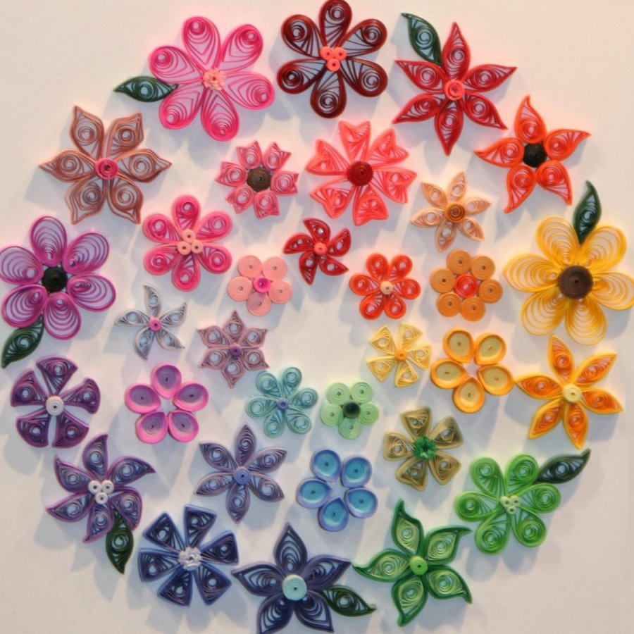 Beautiful Colorful Flower Art Paper Photo Picture Image
