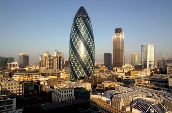 Unique Building At London City England Photo Picture Image
