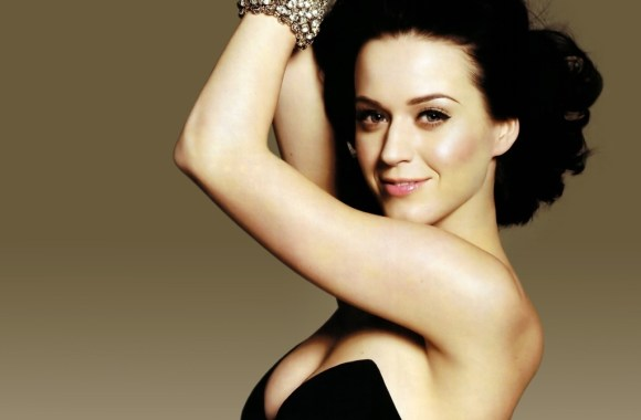 Beautiful Katy Perry Black Dress Wallpaper HD Widescreen