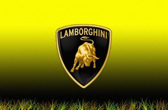 Lamborghini Logo Black Yellow Image HD Wallpaper Desktop Gallery