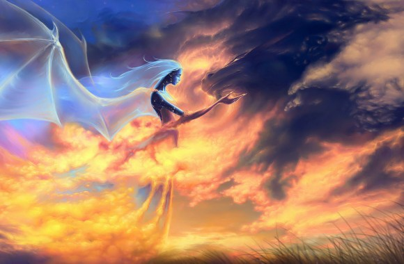 Amazing Angel Flying In The Sky Best HD Wallpapers Pictures Images Gallery