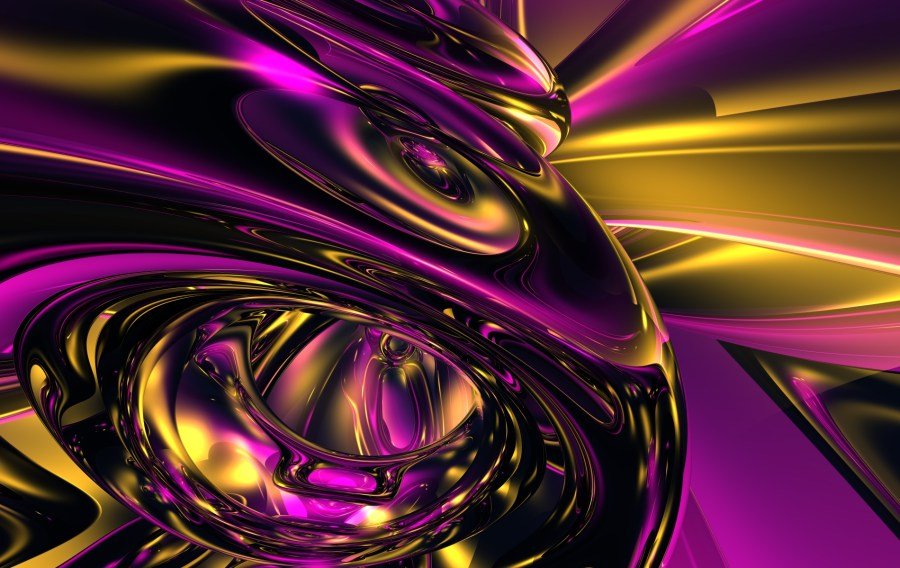 Amazing Gold And Purple Abstract Image Picture HD Wallpaper