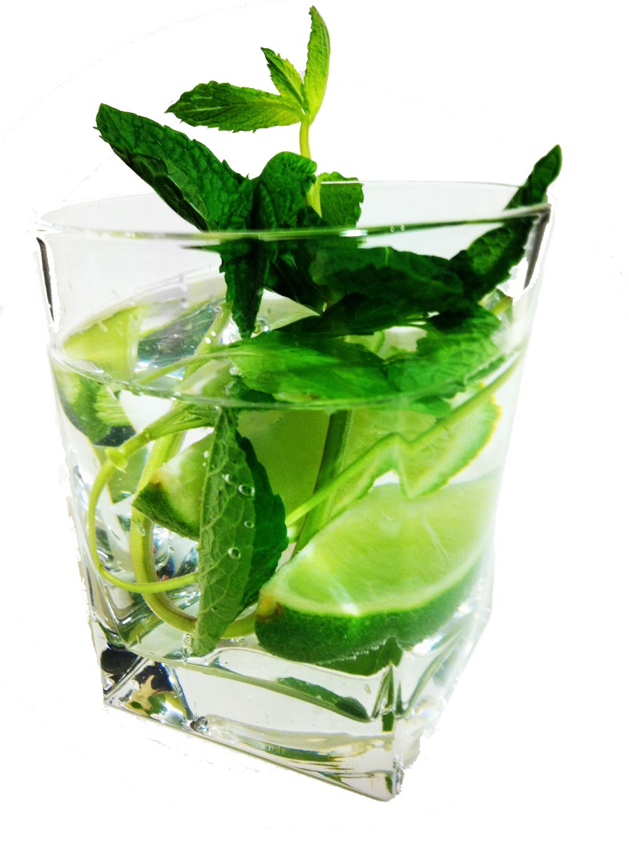 Mojito Traditional Drink With Lemon And Mint Leaves Pictures