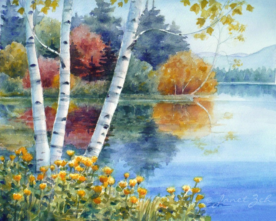 Original Art Watercolor And Oil Paintings Birch Tree Image Picture HD Wallpaper
