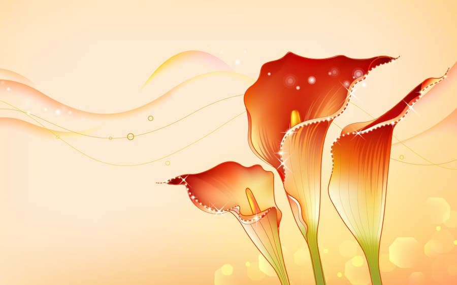 Beautiful Abstract Flowers Design Images HD Wallpapers For Your PC Desktop