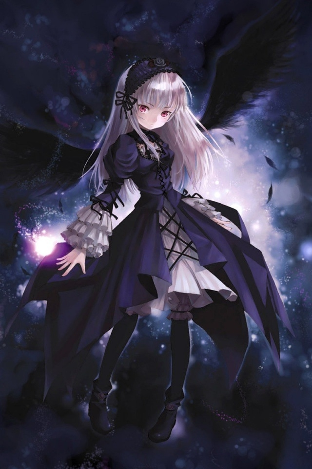 Dark Angel Girl HD Wallpaper Image Picture For Your iPhone Mobile