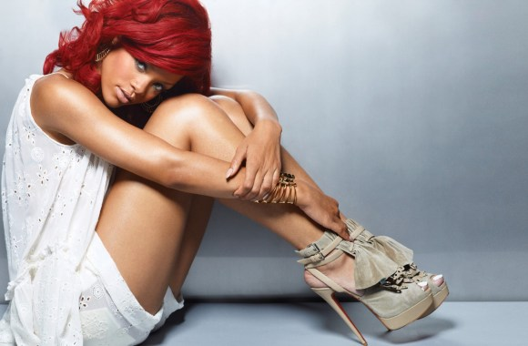 Beautiful Rihanna Red Hair 2013 Photoshoot HD Wallpaper Background