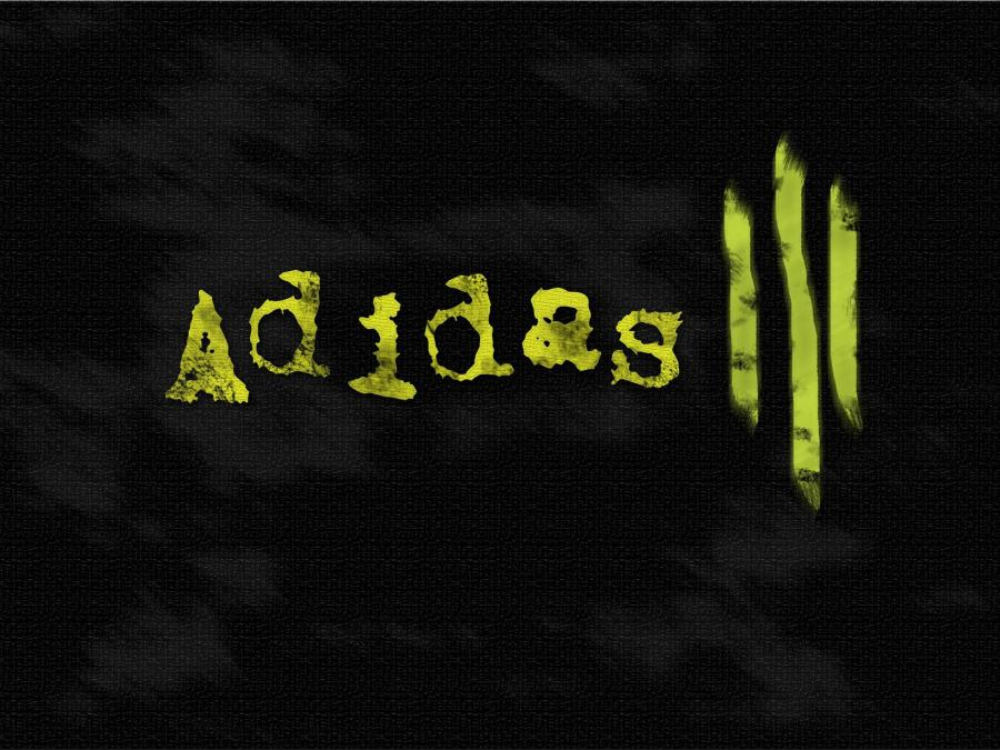 Adidas Font And Logo Black Background High Definition Wallpaper